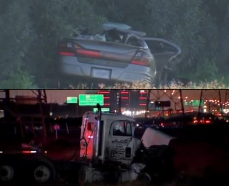 2 dead in fatal crash between 18-wheeler and car in NW Houston